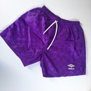 {Umbro} Vintage Purple Soccer Shorts